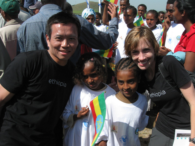 Mardy and Jeff Chen in Ethiopia