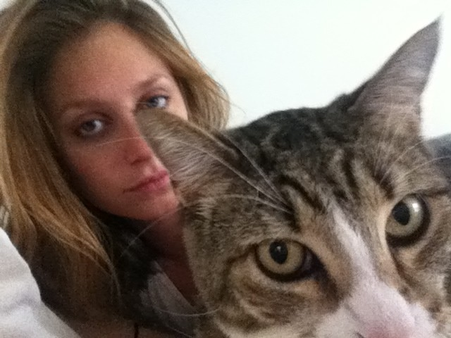 ray with her cat