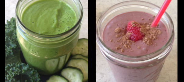 Ultimate Green and Wicked Sweet Pink Smoothies